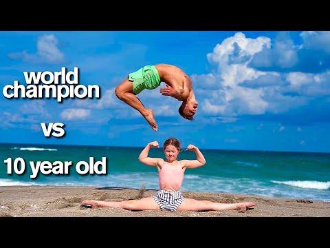 KID vs ADULT - Extreme Acro Gymnastics Competition