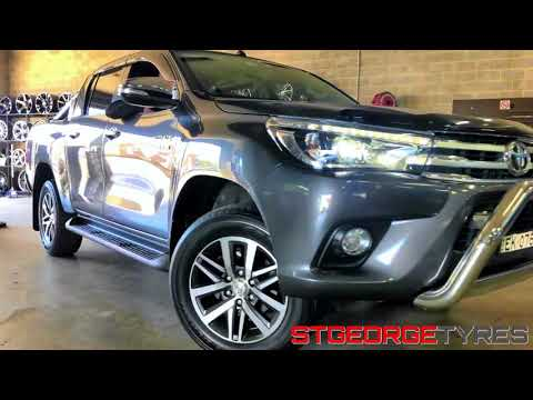 Mickey Thompson Deegan 38 tyres on Toyota Hilux Fitment - St George Tyres