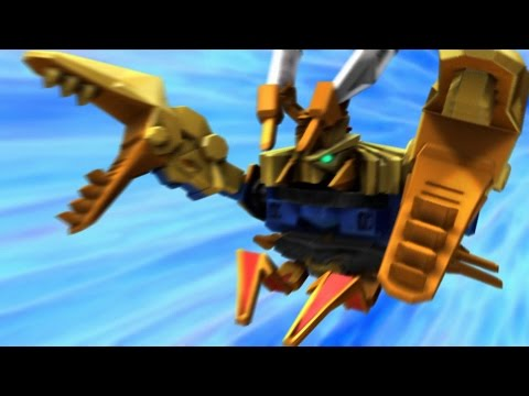 Claw Zord and Claw Battlezord Debut Fight |Samurai | Power Rangers Official