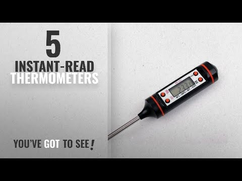 Top 10 Instant-Read Thermometers [2018]: Okayji Digital LCD Cooking Food Meat Probe Kitchen BBQ