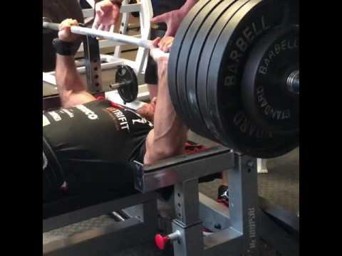 Bench press RAW 2 x 250kg paused BW 112kg Vlastimil Kuzel