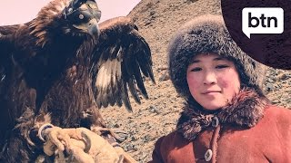 A Khazakh Eagle Huntress - Behind the News