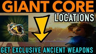 This video shows you 6 EASY locations where Link can get Giant Ancient cores hidden away in shrine treasure chests located in 6 different shrines throughout Hyrule in Zelda Breath of the Wild. Farming Ancient Guardians to gather monster parts also provides an opportunity for getting Giant cores but is not shown in this video. If you ever asked yourself what are giant ancient cores used for, or what do ancient cores do, this video is for you.  In short, you can use them for obtaining the very powerful Ancient bow from Robbie at the Akkala Ancient Tech Lab which is a SUPER PRECISE bow as well as the Ancient shield. The bow may not be considered an overpowered weapon but it sure is strong. These are EXCLUSIVE ancient weapons in breath of the wild that all of us should pick up at some point. This will make your farming ancient cores endeavors a bit easier. Enjoy :) We complete the following shrine quests in this video:•The Test of Wood•Into the Vortex •Trial of Second SightShrines in this video are located in the following regions:•Akkala•Central Hyrule•Great Hyrule Forest•Korok Forest•WoodlandPLEASE CHECK OUT SOME OF MY OTHER COOL VIDEOS! ____________________________________________________________________GET TONS OF ANCIENT ARROWS:https://youtu.be/OFfaFblwn1Q$2300 ELIXIR - LYNEL ELIXIRhttps://youtu.be/v4_5Q1We3n0HOW TO MAKE MONEY FAST - https://youtu.be/_71dOI6S7JYULTIMATE DRAGON FARMING -180 HORNS PR/HR OR 54,000 RUPEEShttps://youtu.be/jWObQPugpf4INFINITE STAR FRAGMENTShttps://youtu.be/cVfWZwunjCQ30 MIN. DURATION ELIXIR AND FOOD RECIPES:https://www.youtube.com/watch?v=Dqxs0IfEWnI____________________________________________________________________Gear Used to Make this Video:1) El Gato HD60 Game Capture Card - http://amzn.to/2sol0qB2) iMac 27 Inch Retina 5K - http://amzn.to/2rLf5up3) Blue Snowball - http://amzn.to/2s7glIVDISCLAIMER: This video and description has amazon affiliate links and this means that if you click on one of the product links above, which shows the