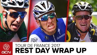 Dan & Matt provide 5 talking points from the first week of the 2017 Tour de France 🇫🇷What are your thoughts on week one? Subscribe to GCN: http://gcn.eu/SubscribeToGCNGet exclusive GCN gear in the GCN shop! http://gcn.eu/h2What are your thoughts on the 2017 Tour de France so far? Let us know in the comments below 👇What a first week it has been in the race around France. Ex-Professional cyclists Dan Lloyd & Matt Stephens take a seat by the river to go over the opening week.Topics include1. Nobody is too big to be disqualified, even World Champion Peter Sagan.2. Pro racing is brutal. We've seen spills & thrills. But this year there seems to have been more than normal, doesn't there?3. Marcel Kittel can do no wrong, or can he?4. A new Thomas Voeckler? 5. The unwritten rules of cycling.... - Yep, this again!If you'd like to contribute captions and video info in your language, here's the link 👍  http://gcn.eu/h3Watch more on GCN...Brand New Aero Tech  Tour De France 2017  📹  http://gcn.eu/aerotechWhat Difference Do Motorbikes Make In Bike Races?  GCN Does Science  📹  http://gcn.eu/h4Music:Vincent Alfieri, Matthew Waugh - Bring It OnPhotos: © Bettiniphoto / http://www.bettiniphoto.net/ & ©Tim De Waele / http://www.tdwsport.comAbout GCN:The Global Cycling Network puts you in the centre of the action: from the iconic climbs of Alpe D'Huez and Mont Ventoux to the cobbles of Flanders, everywhere there is road or pavé, world-class racing and pro riders, we will be there bringing you action, analysis and unparalleled access every week, every month, and every year. We show you how to be a better cyclist with our bike maintenance videos, tips for improving your cycling, cycling top tens, and not forgetting the weekly GCN Show. Join us on YouTube's biggest and best cycling channel to get closer to the action and improve your riding!Welcome to the Global Cycling Network  Inside cyclingThanks to our sponsors:Alta Badia:http://gcn.eu/AltaBadia- // Maratona Dles Dolomites: http://gcn.