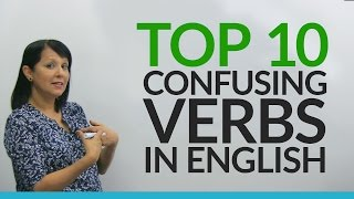 """Take 10 minutes and master these 10 English verbs. Learn or teach? Do or make? Win or beat? Learn the difference between the most commonly confused verb pairs in English. This is an important lesson for beginners because these are basic verbs that you need to use in everyday conversations. I'll explain exactly how each word is used, with examples on the board. Take the quiz to make sure you remember how to use these words correctly: http://www.engvid.com/top-10-confusing-english-verbs-for-beginners/Next, study my free resource page on when to use """"do"""" and """"make"""": http://www.engvid.com/english-resource/do-make-expressions/ Your English will improve tremendously by correcting these errors, so let's get started!TRANSCRIPTHi. I'm Rebecca from engVid. In this lesson you will have a chance to understand 10 of the most confused verbs in English. Now, if you're a beginner student, then you have a chance to learn them right to begin with. If you're an intermediate level student, you might still want to review these verbs just to make sure that you're really using them properly. And if you are making mistakes, no worries, I'm going to explain them to you and also show you how to correct them. Okay? Here we go.The first set of words we have is """"learn"""" or """"teach"""". So, let me give you a sentence and you tell me what you think is right. What should we use here? Which verb? """"Mrs. Cole learns us English"""" or """"Mrs. Cole teaches us English""""? Which is correct? If you had to think for more than one second about the answer, then I'm so glad you're watching. Okay? Because I'm going to give you this very important difference. I hope you said: """"Mrs. Cole teaches us English."""" Okay. So, what's the difference between """"learn"""" and """"teach""""? If you made a mistake, no problem. I'm going to explain it to you so you get it. So, """"to learn"""" means to get knowledge or skills. All right? And """"to teach"""" means to give knowledge or skills. So right now what are you doing? Are you giving knowledge or are you """