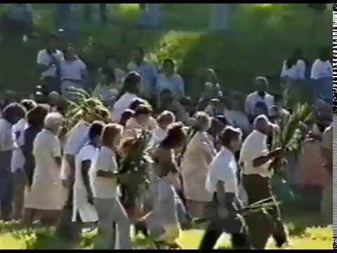 Encenação da Paixão de Cristo em Macatuba ano 1991