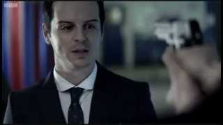 video of the Confronting between Sherlock and Moriarty... while John was looking. :P Moriarty's surprised!!! :D :B.
