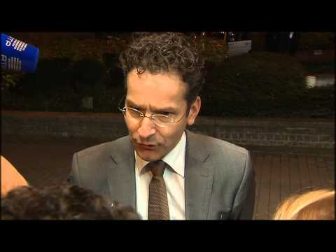 Arrival and doorstep by Eurogroup President Dijsselbloem (17 December 2013)