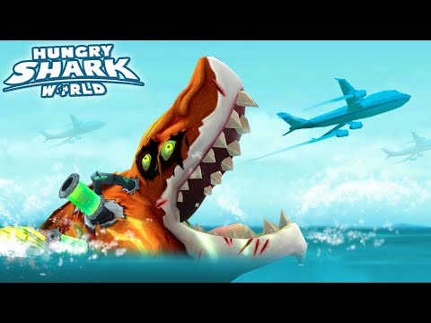 THE BEST SHARK IN THE GAME!!! - Hungry Shark World NEW ATOMIC SHARK   HD