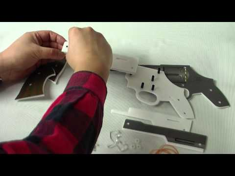 Thompson submachine rubber band gun. - Plans for lifelike 3