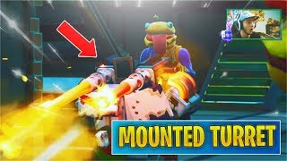 Reacting to *NEW* Mounted Turret + Food Fight LTM! (Fortnite v6.30 Patch Notes)