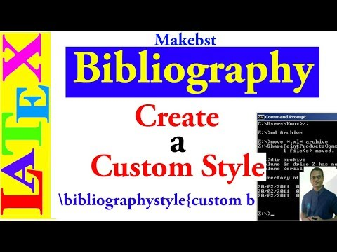 How to Create Custom Bibliography Style (LaTeX Advanced Tutorial-23)
