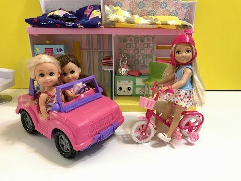 Barbie Playhouse!! Chelsea! Haley and Ally! Part 1