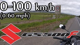 10. Suzuki GS500F   0-100 km/h (0-60 mph)    23 October 2016