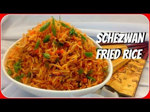 Veg Schezwan Fried Rice | Quick Schezwan Recipe | How to Make Veg Schezwan Rice | Indo Chinese
