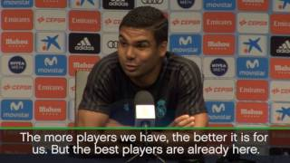 ENGLISH- Real Madrid midfielder Casemiro jokes that Real Madrid already have the best players in the world, as the Spanish ...