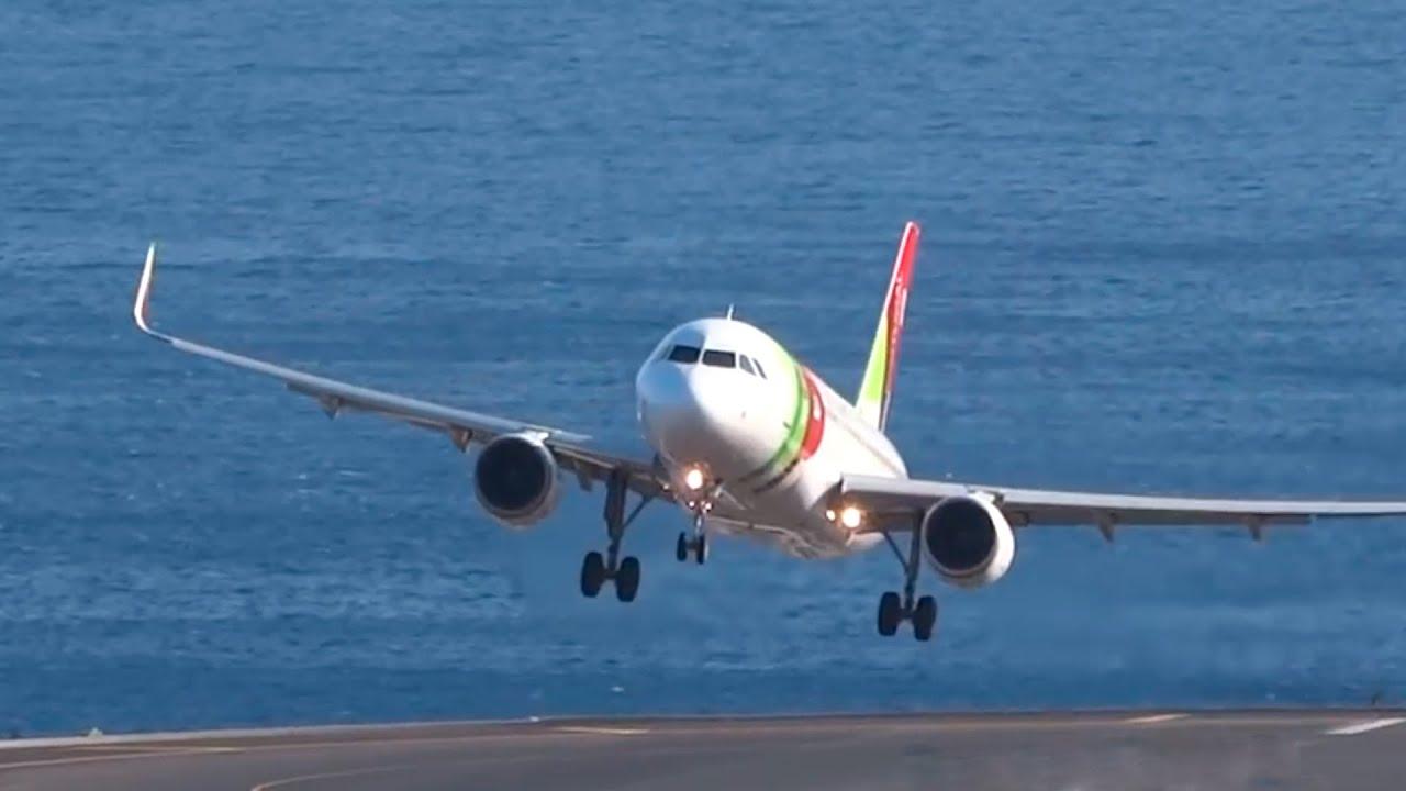 Madeiran lentokentt&auml; vaativa<br /> - Myrskyvideo kertoo kaiken