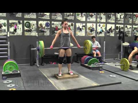 Alyssa Sulay (63kg) 3RM Snatch, Snatch Deadlift On Riser, Back Squats
