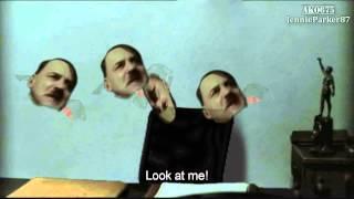 Gunsche, Grawitz and the flying Hitler heads