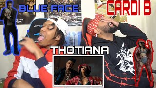 BUST IT DOWN CARDIANA 😍🙈Blueface - Thotiana Remix ft. Cardi B   FVO Reaction