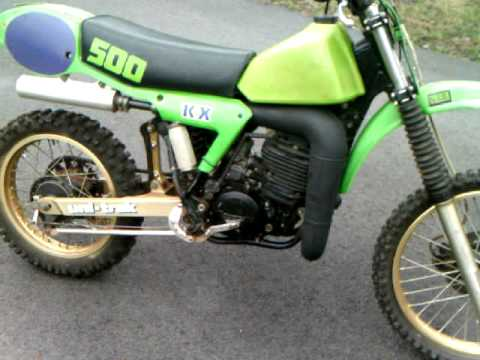 1983 KX 500 Cold Start..