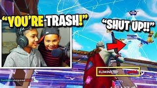 7 Year Old TRASH TALKS Angry Streamer after I beat him in a 1v1 BUILD BATTLE in Fortnite! (RAGE)