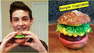 How to make a HAMBURGER CUPCAKE - Episode 25 Baking with Ryan