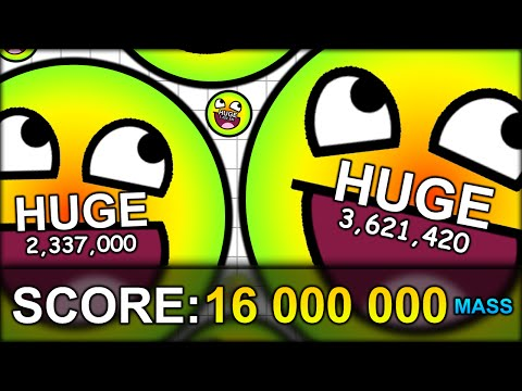 WORLD RECORD 16,000,000 MASS HUGE CELL (16 MILLION!) THE BIGGEST CELL EVER! (AGAR.IO #45)