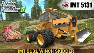 IMT 5131 WINCH SKIDDER V1.0This skidder has a working cable winch. It has the newest winch lua script in it.Developer website FS 17 - http://www.farming-simulator.comWebsite mods - https://www.modsgaming.usFS 17 fan group facebook - https://www.facebook.com/groups/FarmingSimulatorMods/FS 17 fan group VK - https://vk.com/farming_simulator_2013_gamePlaylist FS 17 - https://www.youtube.com/playlist?list=PL54hHM4RuNpdwE1PKqLxgb5r59byxQTolLink Mod IMT 5131 WINCH SKIDDER - https://www.modsgaming.us/load/farming_simulator_2017/fs_17_forestry_equipment/imt_5131_winch_skidder_v_1_0/17-1-0-1166Link Mod TATRA PHOENIX 460 AGRITRUCK - https://www.modsgaming.us/load/farming_simulator_2017/fs_17_trucks/tatra_phoenix_460_agritruck/14-1-0-1162Link Map BALDEYKINO MAP V3.0 - https://www.modsgaming.us/load/farming_simulator_2017/fs_17_maps/baldeykino_map_v3_0_0_0_sc/28-1-0-237Authors mod: Timber131,Vex90,modelleicher, Pero99 & Jukka, Johny9188 for new winch mod added to it