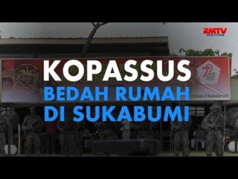 Kopassus Bedah Rumah Warga di Sukabumi