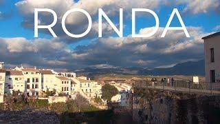 Ронда город вечером и ночью, Испания