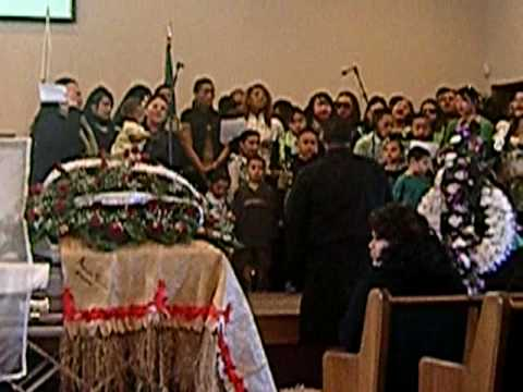 The family singing for Aunty Anita's Funeral