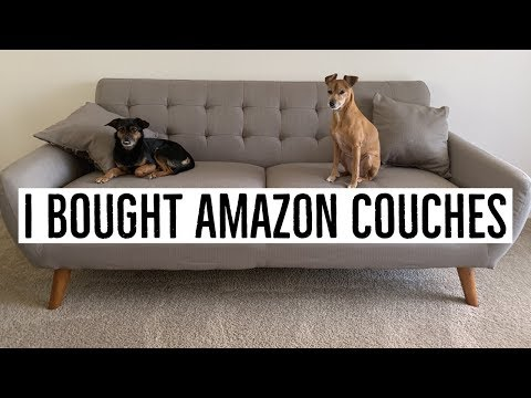 AMAZON COUCHES- UNBOXING AND FIRST IMPRESSION