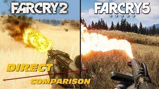Video Far Cry 2 vs Far Cry 5 | Direct Comparison MP3, 3GP, MP4, WEBM, AVI, FLV Februari 2019