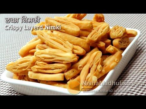Layered Sankhe - Khasta Namak Para Recipe