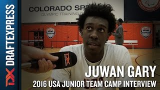 Juwan Gary Interview at USA Basketball Junior National Team Camp