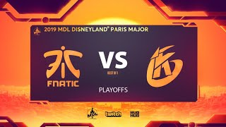 fnatic vs Keen Gaming, MDL Disneyland® Paris Major, bo1 [Smile & CrystalMay]