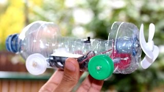 Learn how to make an  powered car Using a recycled plastic bottle. A homemade dollar store hack