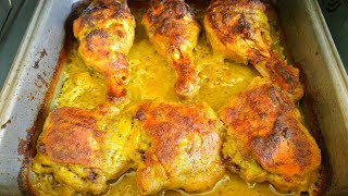 Recipe of how to make easy greek chicken roast. Baked chicken roast recipe..