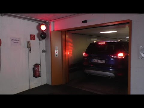 We Drove into this Elevator! Thyssenkrupp Car Mover in Innsbruck, Austria!