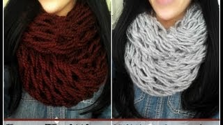 DIY Arm Knitting - 30 Minute Infinity Scarf - YouTube