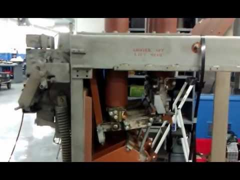 AM-13.8-1000-3H 3000 amp being tested at NAS , Circuit Breaker Testing Video