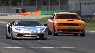 Dodge Challenger SRT Hellcat 'General Lee' vs Lamborghini Aventador