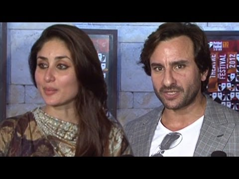 saif - Kareena Kapoor and Saif Ali Khan, the newly weds in Bollywood, make their first public appearance post marriage. For more Bollywood: Log on to http://www.bus...