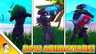 *ALL NEW* BUSH & CONSUMABLE ANIMATIONS in FORTNITE v8.10 UPDATE!!!