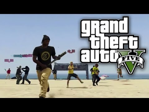 GTA 5 Online - 4 TEAM AMERICAN FOOTBALL! (GTA V Online)