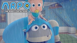 Video ARPO The Robot For All Kids - Rainy Day Blues  | Compilation | Cartoon for Kids MP3, 3GP, MP4, WEBM, AVI, FLV Januari 2019