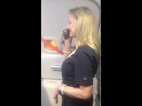 Southwest flight attendant kills it during her pre flight safety instructions, Southwest, flight attendant, pre flight, safety instructions