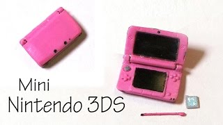 Miniature Nintendo 3DS XL (That Opens) - Polymer Clay Tutorial - YouTube