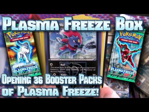 Pokemon - Time for another opening of a Pokémon TCG Booster Box! This time it's the newly released Black & White -- Plasma Freeze set. Will I get anything cool in it? ...